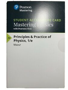 Pearson Mastering Physics:Principles & Practice of Physics 1/e eText Access Code