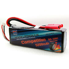Lipo World Competition Akku 4S 14,8V 5200mAh 50C-100C DJI Boot Copter Drohne
