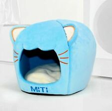 New Pet Dog Cat House Beds Kennel Tent Cushion Mat Removable Cat Head Shaped