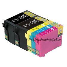 5PK Hi-Yield 2 BK+3 Color Ink For Epson 252XL WF3620 WF3640 WF7610 WF7620 WF7110