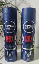 2 x Nivea Deospray Men - Dry Impact Anti Transpirant 48 Std