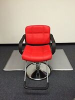 "RED 20"" Wide Hydraulic Barber Chair Styling Salon Beauty Equipment - DS-5001W-R"