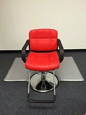 """Red 20"""" Wide Hydraulic Barber Chair Styling Salon Beauty Equipment - Ds-5001W-R"""