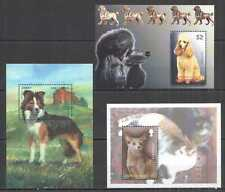 K1382 MOZAMBIQUE MONTSERRAT MICRONESIA PETS CATS & DOGS OF THE WORLD !!! 3BL MNH