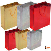 Metallic Holographic Gift Bags Party Weddings Birthdays All Sizes Colours