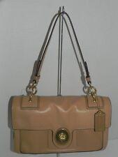 COACH Peyton Leather Flap Camel Brown Handbag 14524
