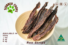 3kg KANGAROO ROO JERKY STRIPS NATURAL HEALTHY LOW FAT HIGH PROTEIN DOG TREAT