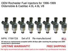 8 fuel Injectors for 1996-1999 Oldsmobile & Cadillac 4.0L 4.6L V8 OEM Rochester