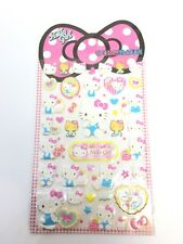 Hello Kitty Stickers Lovely 1 Sheet Free Shipping Girly Pinky
