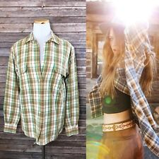 Ralph Lauren Polo Sport Women's 4 Plaid Camping Hiking Button Up Flannel Shirt