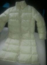 NEU - Damenmantel Jacke knielang Winter Mantel creme Ski Schnee Daunen Gr. S M