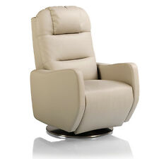 Fauteuil relax Cuir 1 moteur CALIFORNIA - Cuir - Gris - Filaire