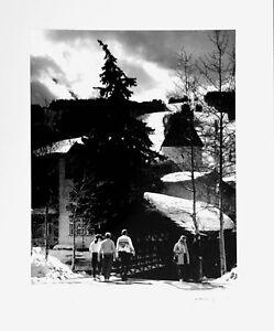 VAIL COLORADO BRIDGE LANDSCAPE LARGE SIGNED ART PHOTOGRAPH BY LEWIS GOLDENBERG