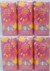 Starbucks Coffee Thanksgiving Blend Whole Bean! Case of 6-1lb Bags, BB 05/21