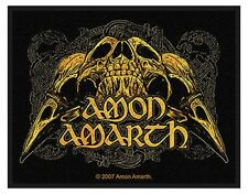 AMON AMARTH raven skull 2008 - WOVEN SEW ON PATCH official merchandise