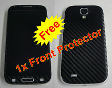 Samsung Galaxy S4 - 3M 3D Carbon Fiber Skin sticker * Front & Back *