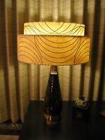 Mid Century Vintage Style 2 Tier Fiberglass Lamp Shade Modern Atomic Retro I18