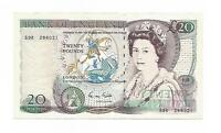 English Banknotes - Gill £20 Bank Note ERROR note - Reverse printed on Front