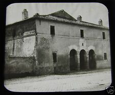 Glass Magic lantern slide ROME CHURCH ENTRANCE TO CATTACOMBS C1890 ITALY L65
