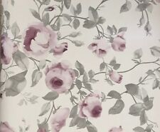 Laura Ashley Grace Pale Grape Wallpaper Batch: W097532-A/1 Sold per roll