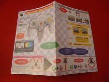 Mario Kart Nintendo 64 N64 Operation Card Insert ONLY Mario Cart