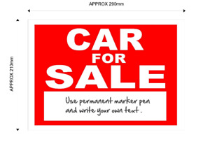 Car For Sale Sign - with space for your own text car dealers private sellers