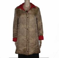 Borbonese Taglia 44 Piumino Giacca Cappotto Trench Reversibile Donna