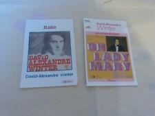 DAVID ALEXANDRE WINTER - Lot de 2 fiches Platine !!!