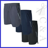 Mens Sports Running Shorts With Reflective Detail & Mesh Triangle On The Side