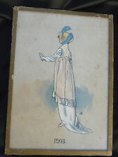 Anciens dessins de mode , aquarelle 1803