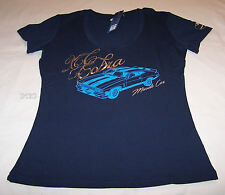 Ford Falcon XC Cobra Ladies Navy Blue Printed V Neck T Shirt Size 14 New