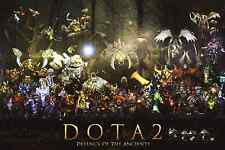 "DotA 2 Posters All Heroes Silk Wall Poster Gaming Room Prints 36x24"" Q100.1"