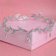 Luxury Tiara Wedding Prom Party Crown Crystal Rhinestone Bridal Drop Headband
