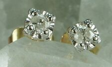 NEW Guaranteed Genuine Solid 9CT Yellow Gold Real Natural Diamond Stud Earrings