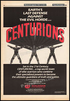 CENTURIONS__Original 1986 Trade print AD / poster__animated TV series promo