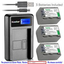 Kastar Battery LCD Charger for Sony NP-FP70 FP71 & Sony DCR-DVD202 DCR-DVD203