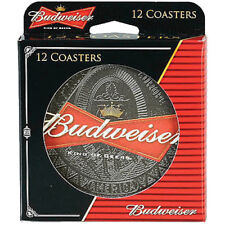 Budweiser 12 Pack 4 Inch Round Coasters