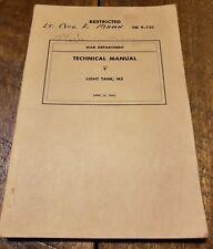 RARE RESTRICTED WW2 BOOK M5 LIGHT TANKS TM 9-732 4-16-1942 TECHNICAL MANUAL