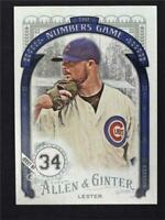 2016 Topps Allen and Ginter The Numbers Game #NG27 Jon Lester - NM-MT