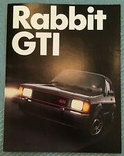 VW Rabbit GTI 1983 - Volkswagen America USA - Golf I - Prospekt 1A Zustand