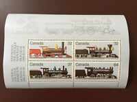 Canada Stamp Souvenir Sheet - 1984 CANADIAN LOCOMOTIVES(1860-1905) Series 2 SS