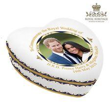 Prince Harry & Meghan Markle Royal Wedding China Heart Trinket Box