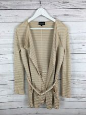 ARMANI Belted Cardigan - Size UK12 - Pink & Cream - Great Condition - Women's