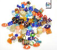 40 Millefiori Perlen Bunte Perlenmischung Glasperlen Schmuck 4 ~ 20 mm BEST R194