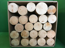 DECORATIVE ROUND LOGS for DISPLAY PINE / SPRUCE SOFTWOOD RUSTIC SHABBY CHIC