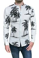 Camicia uomo di lino Diamond Casual bianca estiva slim fit Hawaiana da S a XXL