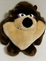"Vintage 1993 Tazmanian Devil Warner Bros Taz Plush Stuffed Animal 8"" 24k"