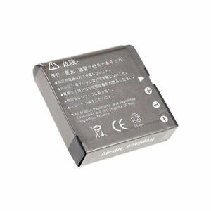 Akku für Casio Typ NP-40 3,7V 1230mAh/4,5Wh Li-Ion Schwarz