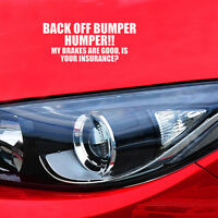 1x Personality BACK OFF BUMPER HUMPER Stickers Car Vinyl Sticker Tail Decal