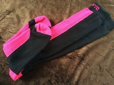 LADIES HI QUALITY LONG CAMPRI BLACK PINK MERINO WOOL BLEND BREATHABLE SKI SOCKS